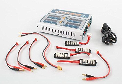 Preisvergleich Produktbild EV-Peak Quatro Ladegerät CQ3 EV0308 | AC / DC Dual Input | Vier unabhängige Ladeschaltungen/4 verschiedene Arten von Batterien zur gleichen Zeit laden | Überladeschutz | Kurzschlussschutz | Ladeleistung : max. 100W x4 | Entladeleistung : max. 10W x4 | Ladestrom : 0.1~10.0A | Entladestrom : 0.1~5.0A | LiPo / LiHV / LiFe / Lilon Batteriezellenzahl : 1-6S | NiMH / NiCd-Akku Zellzahl : 1-15 Zellen | Pb Batterie- Spannung: 2V-24V
