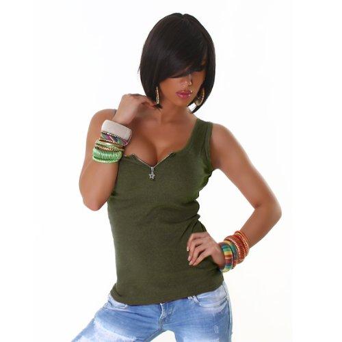 Jela London Sommer Top (TS-426) Khaki