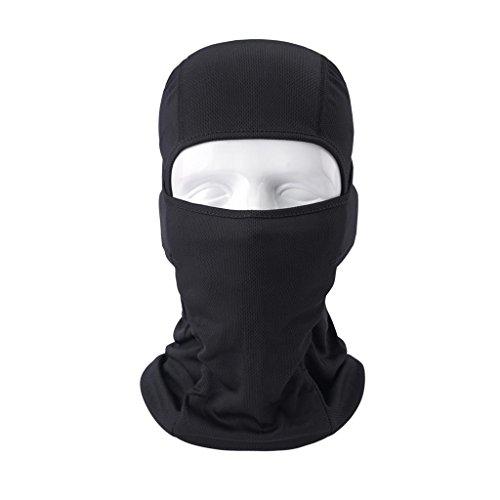 VERTAST Sturmhaube Balaclava, super Dehnbare atmungsaktive Sport Maske für Outdoor-Skifahren Radfahren Motorrad Helm Wandern Camping Nackenwärmer, schwarz