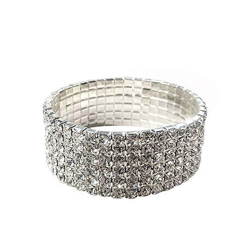 r Sparkly Strass Stretch Armband für Hochzeit, Abschlussball, Braut, Kostüm, Figur Wettbewerb, Schönheitswettbewerb ()