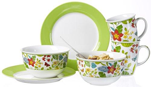 Ritzenhoff & Breker Brunch- und Frühstücksset Tropicana, 6-teilig, Porzellan