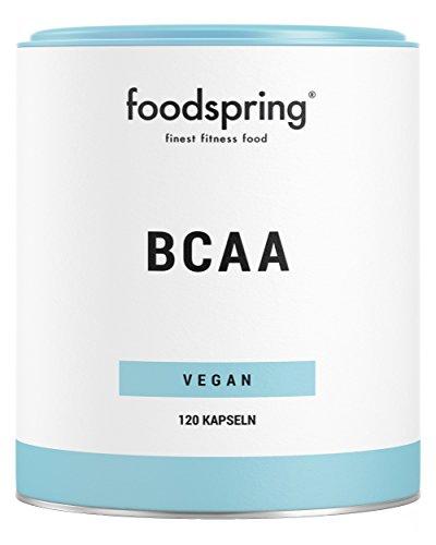 foodspring BCAA Kapseln, 120 Stück, Vegane premium BCAAs, Aminosäuren im Verhältnis 2:1:1, Hergestellt in Deutschland mit sorgfältig ausgewählten Rohstoffen