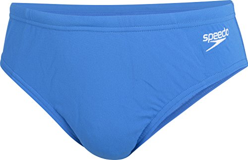 Speedo Schwimmen Kostüm - Speedo Essential Endurance + Badehose Jungen, Unisex Baby, End+ 6.5CM BRF JM, Gr. 104, Blue fluo