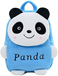 Star Fashion Panda Velvet Kids School Bag For Kids Picnic Bag 14 Inches Sky Blue 2 To 4 Years Kids Size (L X B...