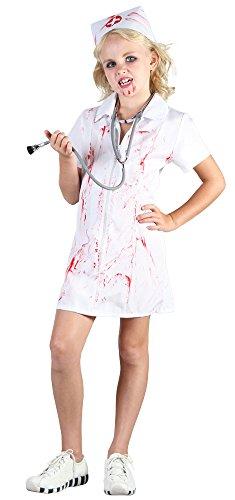 verrückte Krankenschwester Fasching Anzug Kostüm Outfit -L (Verrückte Krankenschwester Kostüm)