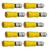 10 Stück Rundstecker 5mm gelb 2,5 - 6,0 qmm