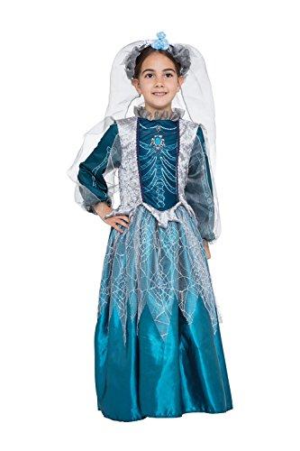 Bristol Novelty CF073 Skelett Königin Kostüm, Silber, Größe 5-7 Jahre