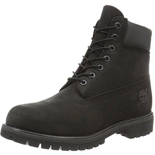 Timberland Herren-Stiefel, 15,2cm, Premium, wasserdicht, Schwarz - schwarzes Nubukleder - GrÃße: 43.5 EU