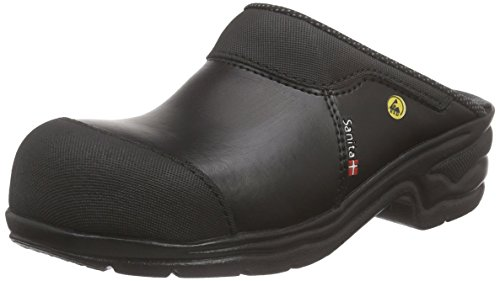 Sanita Workwear Safety Clog Open-sb, Zoccoli Unisex – Adulto Nero (Schwarz (Black 2))