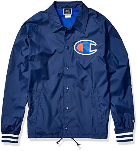 Champion Life Herren Satin Coaches Jacket Ribbed Cuff Jacke, Imperial Indigo, XX-Large
