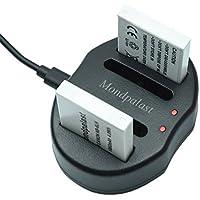 Mondpalast @ 2x Sostituzione batteria NB-6LH NB6LH nb6lh 1060 mah