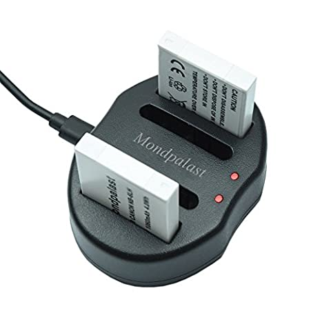 Mondpalast @ 2X Qualitäts akku Batterie NB-6LH NB6LH nb6lh 1060mAh mit InfoChip + 1x USB Dual Akku Ladegerät Akkulader für Canon Powershot SX710 HS SX520 HS SX520HS SX600 HS SX700 HS SX610 HS SX710 HS SX500 IS SX510 HS SX510HS SD1300