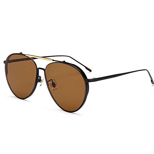 Ppy778 Männer Fahren polarisierte Sport Sonnenbrillen Metallrahmen Ultraleicht (Color : Gray)