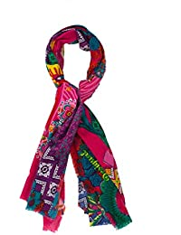 DESIGUAL - Woman's red scarves cenefa red