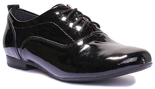 Justin Reece 5200, Scarpe stringate donna black patent