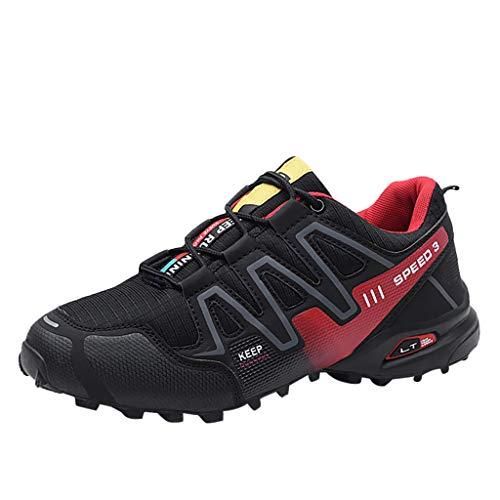 Worsworthy Scarpe Uomo Sportive Scarpe Uomo Eleganti Sneakers Rosse Scarpe Tacco Sneakers Traspiranti in Mesh di Grandi Dimensioni per Uomo Scarpe da Lavoro Casual Antiscivolo Ultraleggere
