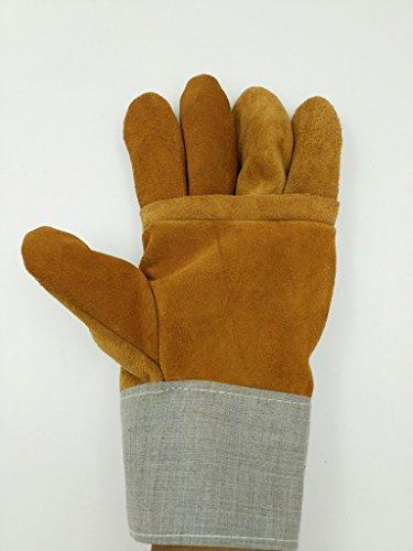 Schweißabriebfeste Hitzebeständige Handschuhe Isolierte Feuerbeständige Handschuhe (Isolierte Leder-arbeits-handschuhe)
