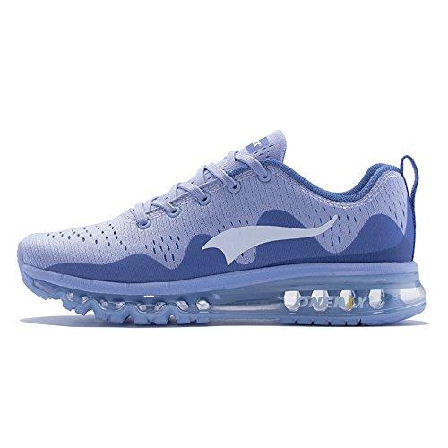 OneMix Damen Air Laufschuhe Luftkissen Tennis Sneaker Sportschuhe mit Luftpolster Turnschuhe Silber Größe 39 EU