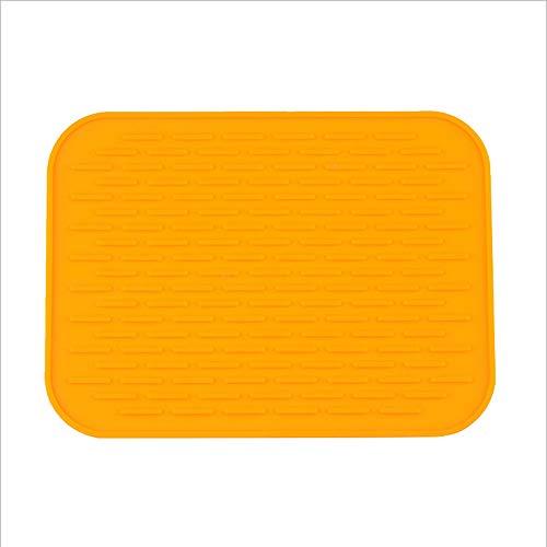 Leisial Tapis d'alimentation en Silicone Sets de Table Isolant Multifonctionnel Tapis de Table Anti-tâche Antidérapants Imperméable(Orange