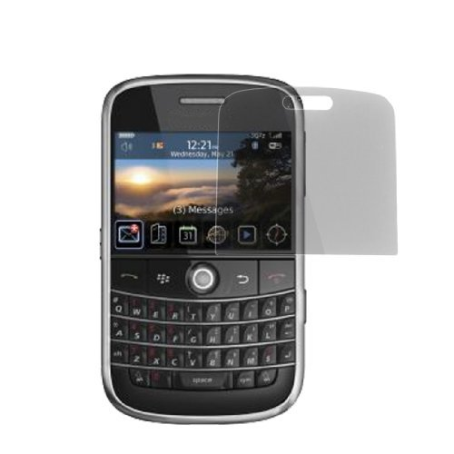 Zwart plastic screen protector voor de BlackBerry Bold 9000 9000 Screen Protector
