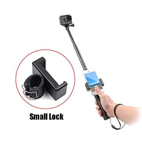 Universal Handy Selfie Lock Clip Stick Handheld Einbeinstativ Verstellbare Schnalle Handy Halter Adapter für Go Pro Hero 7 6 5 4 3 + xiaomi Yi 4K SJCAM