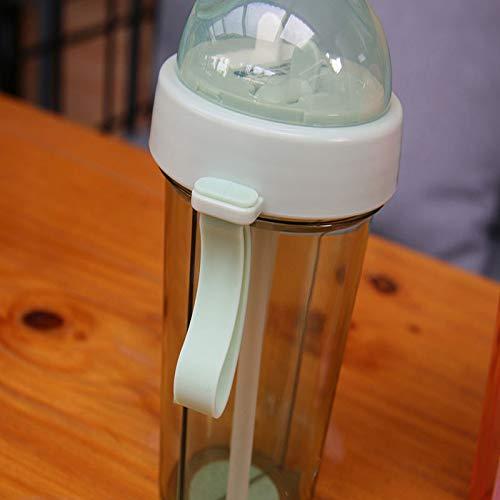 WDCSHJSJD Paar Stroh Tasse Kunststoff Fitness Wasser Trinkflasche Double Drink Persönlichkeit Flasche Tee im Freien -