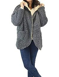 Amazon.es: abrigo borrego reversible - 1 estrella y más: Ropa