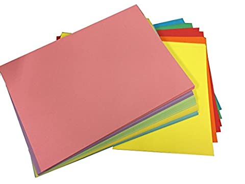 House of Card & Paper A5 220 gsm Card - Assorted Bright/Pastel Colours (Pack of 25 Sheets)