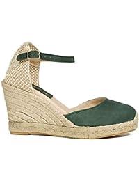 diseño superior niño profesional Amazon.es: cuñas esparto - Verde / Zapatos para mujer ...