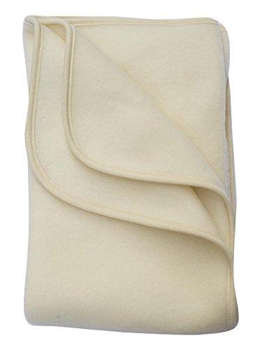 Produktbild Babydecke Fleece,  Engel Natur,  100% Schurwolle,  3 Farben (80X100
