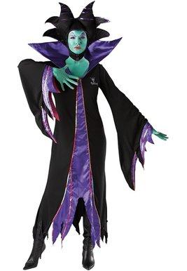 fizkostüm Kostüm Malefiz Dornröschen Märchen Böse Fee Disney Gr. L, M, S, Größe:M (Dornröschen Fee Kostüm)