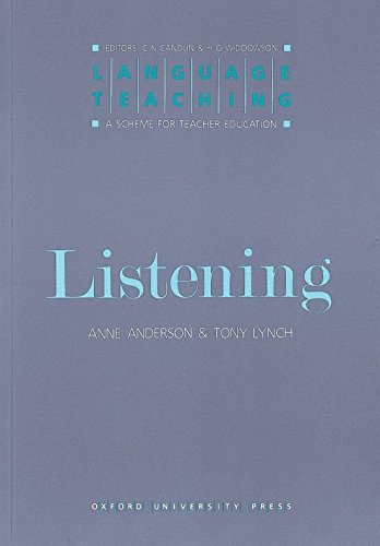 Language Teaching Listening: A Scheme for Teacher Education