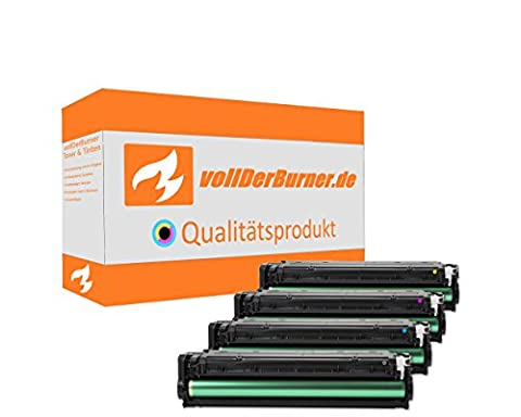 vollDerBurner XL Toner für HP 131A U0SL1AM & CF210X Alle Farben 1x2400 & 3x1800 Seiten CF211A CF213A (226 Oem Tintenpatrone)