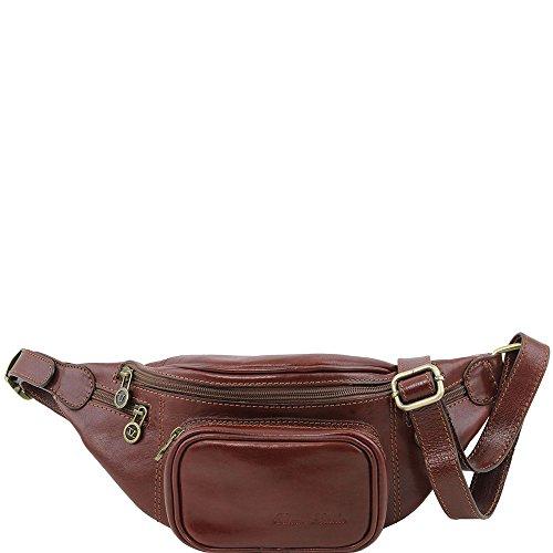 Tuscany Leather - Sac banane en cuir - Marron - Homme