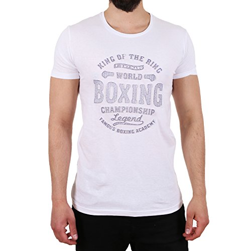 D & A Lifestyle 3d King Of The Ring T-Shirt Weiß Weiß