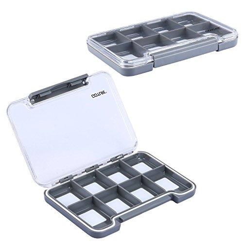 Goture - Kit de anzuelos giratorios de plástico para aparejos de pesca, gran capacidad de almacenamiento, Fly Fishing Box