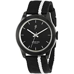 """Johan Eric Men's JE1400-13-007 """"Naestved"""" Stainless Steel Watch with Canvass Band"""