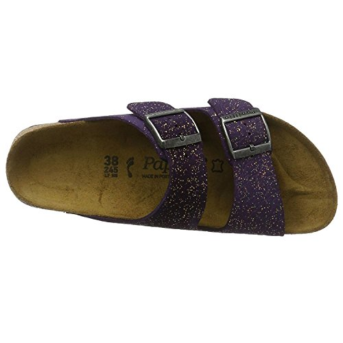 Papillio Womens by Birkenstock Arizona Suede Sandals Grace Violet