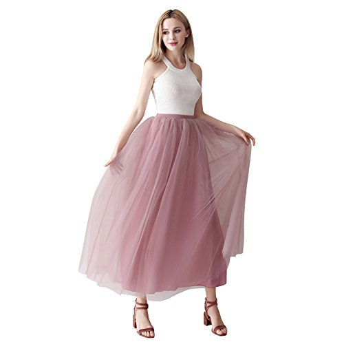 Used, ShowYeu Women's A-line Pleated Petticoat Tulle Skirts for sale  Delivered anywhere in UK