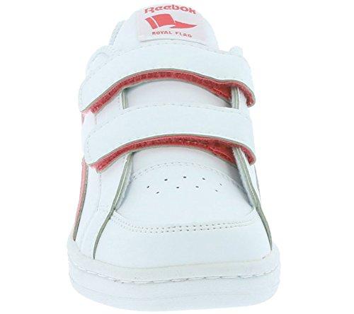 Reebok Royal Prime Alt, Chaussures de Sport Fille Blanc / rose (blanc / rose audacieux)