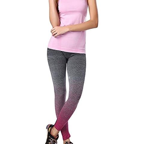 EOZY-Leggings Yoga Donna Lunghi Pantaloni Sportivi Color Gradient Ragazza