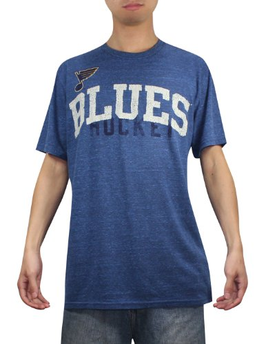 NHL Mens St. Louis Blues Athletic Short Sleeve T-Shirt (Vintage Look) L Blue