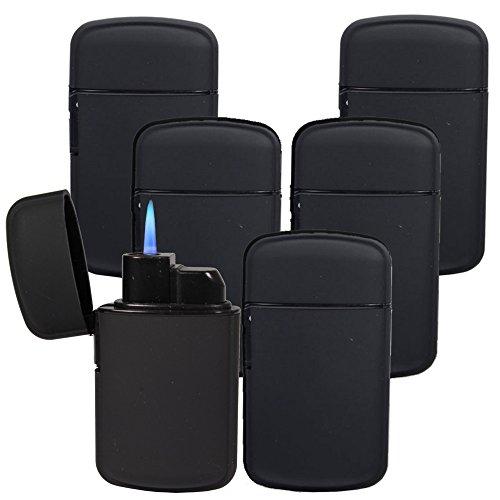 Sturmfeuerzeug BLUE JET FLAME Turbo Feuerzeug Torch Flamme Soft Touch Oberfläche - Easy to handle / Outdoor geeignet (5, 6.5)