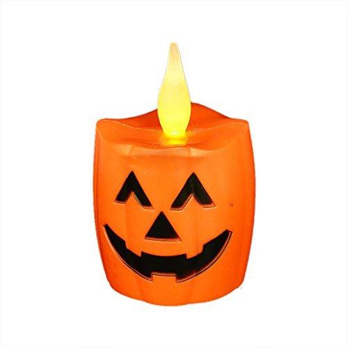 irealist LED luces, ondulado flickring sin llama Halloween velas LED, funciona con pilas velas LED de calabaza, juego de 4pcs