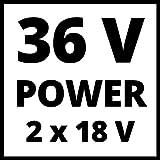 Einhell Akku Rasenmäher GE-CM 43 Li M Kit (Lithium-Ionen, 18 V, 4000 mAh, Schnittbreite 43 cm, 6-fache Schnitthöhenverstellung 25-75 mm, Fangbehältervolumen 63 l, inkl. 2 Akkus) - 11