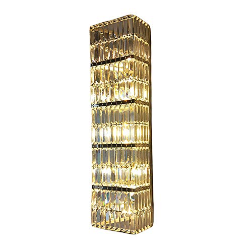 JTWJ LED postmodern rechteckigen K9 Kristall Wand Lampe Wand Lampe Wand Lampe Serie Luxushotel KTV Business Abteilung Flur Wohnzimmer TV Hintergrund Wand mit G9 Lampe Perlen (Size : L)