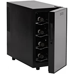 Amstyle Design Vin Réfrigérateur 23L 8°C de 18°C–8bouteilles Refroidisseur à Vin Noir Classe d'efficacité énergétique: 'A'