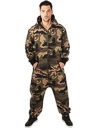 URBAN CLASSICS - Camo Jumpsuit (wood camo) - Anzug