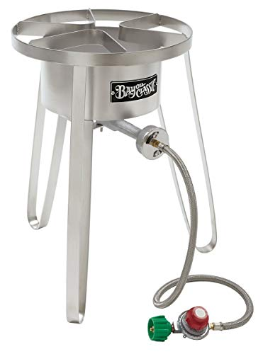 Bayou Classic SS50 Stainless Steel High Pressure Cooker, Tall -