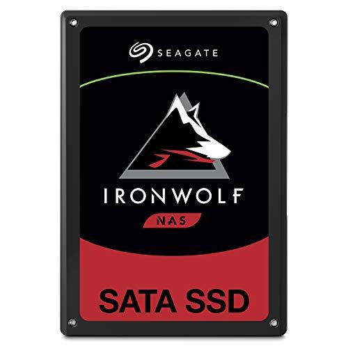 SeagateZA480NM10001 IronWolf 110 SSD 480 GB interne SATA SSD für NAS, 6, 35 cm (2, 5 Zoll) bis zu 560 Mb/s, schwarz, Bulk)